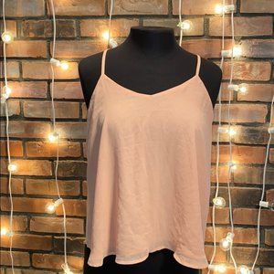 Forever 21 Light Pink Tank Top with Crochet Back